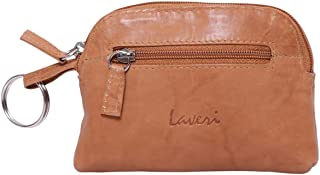 Laveri Small Wallet for Unisex - Leather, Dark