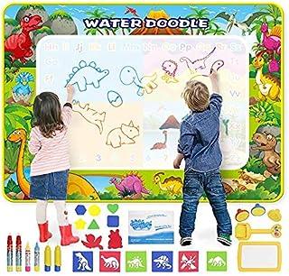 GoZheec Agua Dibujo Pintura, 160*120cm Alfombra de Agua Mágico Doodle con Paquete de Transporte y Herramienta de Sello de ...