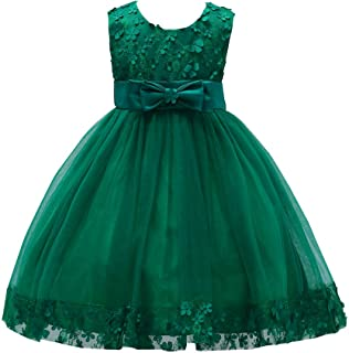 Flower Girl Pageant Dress Girls Elegant Lace Tulle Baptism Wedding Princess Gown Party Dresses