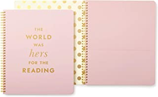 Kate Spade Large Spiral Notebook, Quote, Pink (174649)