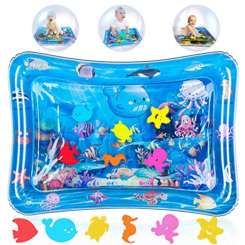 Tappetino Gonfiabile per Neonati,Tappetino per Bambini d'Acqua,Tappetino per acqua per bambini,Tappetino Gonfiabile per Bambini,Materassi Gonfiabili ad Acqua (Creature acquatiche)