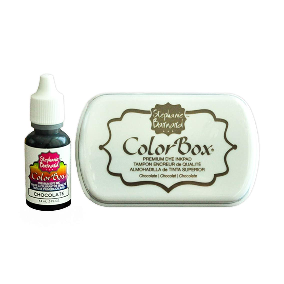 Premium Ink Pad and Refill for Card-Making and Scrapbooking by The Stamps of Life - Chocolate Brown