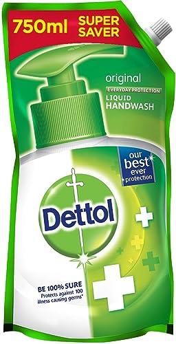 Dettol Original Germ Protection Handwash Liquid Soap Refill 750Ml