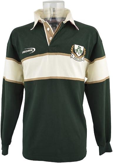 Hombres Trébol Camisa De Manga Larga De Rugby