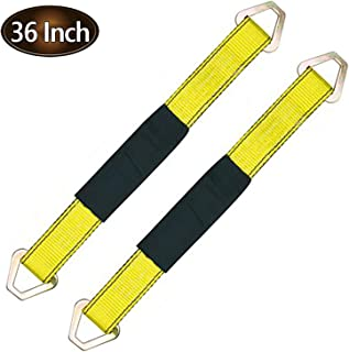 """Robbor Axle Straps-2 Pk 36""""x 2"""" Premium Car Axle Straps with D-Ring and Protective Sleeve 10,000 lb.Breaking Strength 3,333 lb.Working Load Idea for Low Applications"""