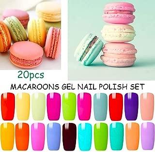 Blue Velvet 20 Colors Gel Nail Polish Set Colorful Macaroon Nail Varnish Starter Kit Summer Nail Designs Manicure Pedicure