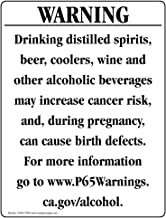 California Prop 65 Alcohol Warning Sign, 14x10 inch Plastic for Chemical Hazmat by ComplianceSigns
