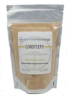 Myriad Mycology Cordyceps Sinensis Mushroom Powder 5.2 Ounce or 150 grams, CS-4, Made in USA / Dong Chong Xia Cao