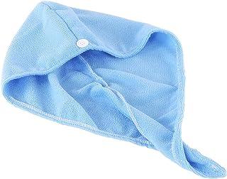 Yudanny - Toalla de ducha de secado rápido, microfibra, gorro de ducha