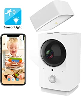 Rreslicam 1080p Pan Tilt Zoom WiFi Wireless Smart Home Security IP Camera System with Sensor Light, 360-degree,Motion Tracking,IR Night Vision,2 Way Audio for Baby Pet Nanny Monitor Work with Aleax