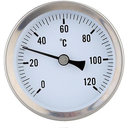 Anlegethermometer Thermometer Bimetall 0 Bis 120 C Baumarkt