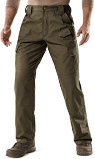 CQR Men's Tactical Pants, Water Repellent Ripstop Cargo Pants, Lightweight EDC..
