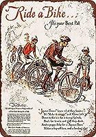 自転車に乗る、それはあなたの最高のパルティンサインヴィンテージノベルティ面白い鉄の絵の金属板です