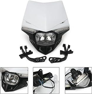 バイク ヘッドライト カウル ストリート オフロード LEDディライト ヘッドランプ マスク ターンライト 汎用