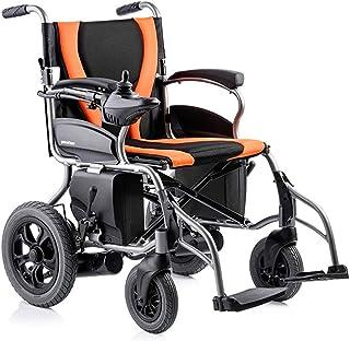 Sillas de ruedas eléctricas para adultos Silla de ruedas Silla médica de rehabilitación, sillas de ruedas, Silla de ruedas eléctrica accionada, ligero portátil plegable pesado deber Scooter, compacta