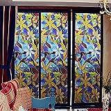 LMKJ Color Flor Pegatinas de Vidrio Pegatinas protección Solar Aislamiento Puerta y Ventana Reutilizables Armario película A105 60x200cm