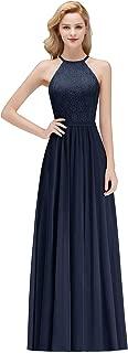 Women Long Chiffon Halter Prom Dress Formal Evening Gowns