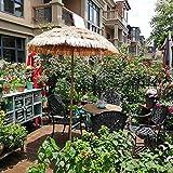 200cm Hawaii Gartenschirm Neigbar Sonnenschirm Strandschirm Marktschirm,für Garten,Deck,Schwimmbad,Sandstrand,Aus Polyester,Sonnenschutz,Imitation Stroh