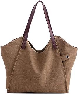 LXHOME Segeltuch-Handtaschen Frauen Damen Leinentaschen Segeltuch Taschen Handtaschen Umhängetasche für Frauen