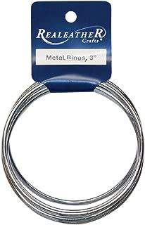 Realeather Crafts Zinc Metal Rings, 3-Inch, 6-Pack (BRI-03-06)