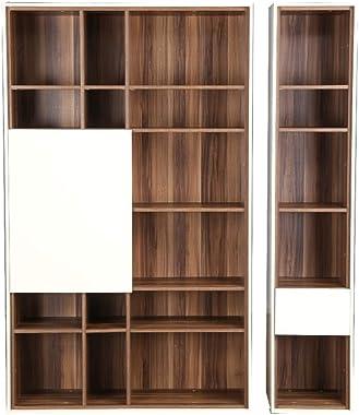HomeTown Fabiola Engineered Wood Book Shelf in Dual Tone Colour