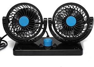 Ventilateur à double tête BestFire - Rotation à 360° - Réglable - Pour la voiture - Silenci...