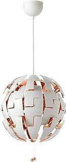 Ikea Pendant lamp, White, Copper Color