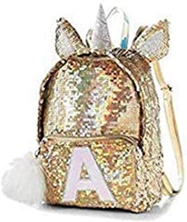 justice gold unicorn backpack