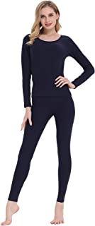 Women's Soft Thermal Underwear Long Johns Set Fleece Lined Base Layer Top & Bottom