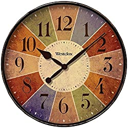 Westclox Quartz Wall Clock 12 Multicolored Quartz Movement Glass
