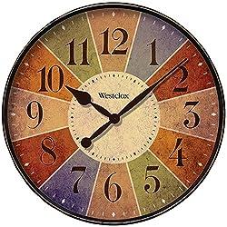 Westclox Quartz Wall Clock 12 Multicolored Quartz Movement Glass