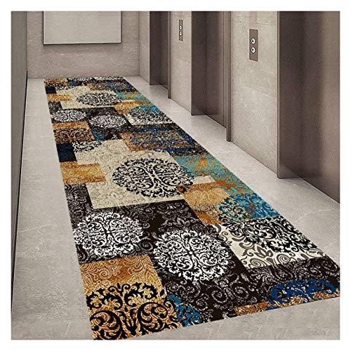 XZPENG Alfombra para pasillo de escaleras, antideslizante, lavable, de ancho, 50 cm, 60 cm, 70 cm, 80 cm, 100 cm, 110 cm, 120 cm, moda, creatividad, comodidad