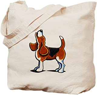 CafePress Tricolor Beagle Bay Natural Canvas Tote Bag, Reusable Shopping Bag
