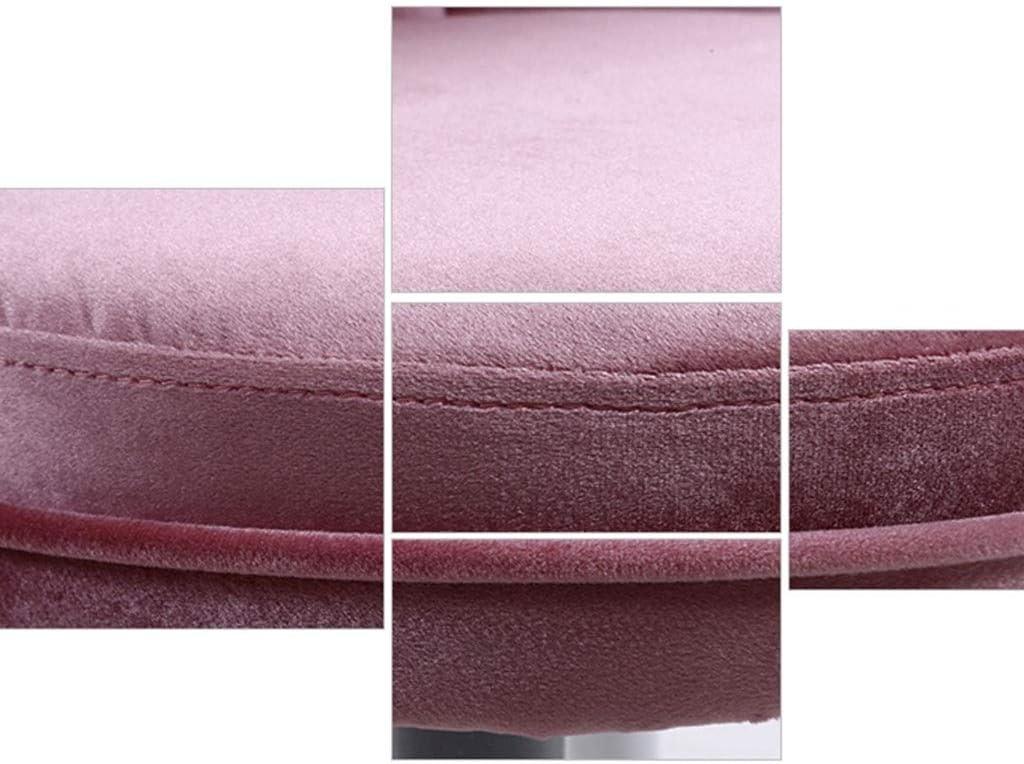 LSRRYD Chaise Salle À Manger/Coiffeuse Chaises,Cuisine Rembourrée Chaise avec Pieds en Bois Et Velours Assise 76x45x35cm (Couleur : Beige-B) Pink-b