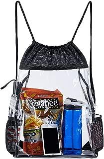 clear or mesh drawstring bag