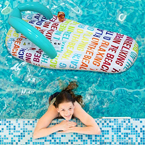 Mocasines hinchables para piscina flotante, equipo portátil de verano, para piscina