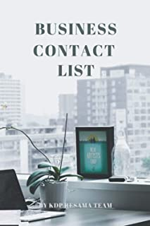 BUSINESS CONTACT LIST: Simple organizer for all your contacts.