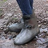 KTZAJO - Copriscarpe impermeabile con controllo della sabbia, antiscivolo, riutilizzabile, impermeabile, per campeggio, pesca, giardino, viaggi per donne e uomini (colore nero, 34-35)