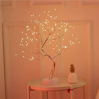 AMERTEER USB Pearl Decorative Led Shimmer Tree Desk Lamp Touch Switch Led Light for Home Bedroom Indoor Wedding Party Diwa...