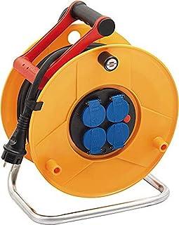 Brennenstuhl enrouleur electrique Standard Pro (câble 25 m, Rallonge Prolongateur électrique Professionnelle pour intérieu...