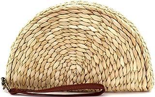 Small Medium Straw Boho Bali Beach Rattan Clutch Satchel Crossbody Bag Purse