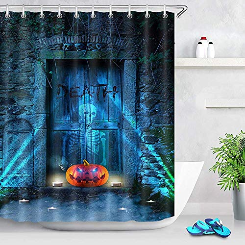 Hotel douchegordijn bordspel blok pad op stadspark versierd badkamer, douchegordijn voor badkamer, W122 X H183 CM/48X72 Inch
