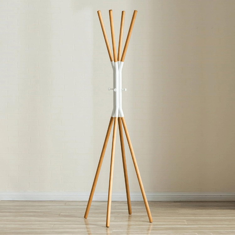 DGF Coat Racks, Bedroom Solid Wood Hangers, Simple Floor Hangers 170cm(Optional for both colors) ( color   White )