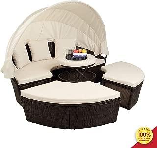 Romatlink Patio Round Sectional Sofa Set, 72.5