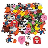 Elfen und Zwerge - Aufkleber Bauernhof - Sticker mit Tieren von der Farm - aus Moosgummi - 50 Stück