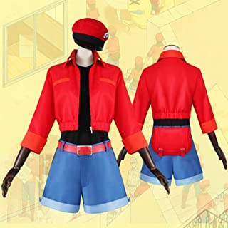 Anime Cells at Work Red Blood Cell Women Cosplay Costume Seqkeqkyuu Halloween Tops Shorts Full Set Suit Uniform with Hat
