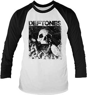 Deftones 'Skull' Long Sleeve Baseball Shirt