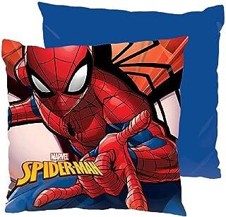 ML pank de 2 Cojines de Spiderman para habitacion de Bebe Cojin 40x40cm cojin para niño Rojo/Azul