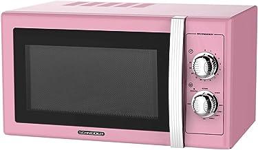 Microondas 20L, 700W mecánico vintage rosa