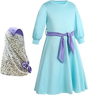 Abbigliamento sportivo ASGHILL Abito Abito Manica Lunga con Maniche Larghe e Applicazioni Musulmane
